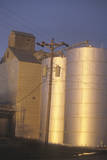 Grain Silos at Sunset in South Coeur D'Alene, ID Photographic Print