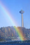 Rainbow over Niagara Falls, Canada Photographic Print