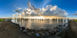 Sunset over a Lake, Lake Pontchartrain, New Orleans, Louisiana, USA Photographic Print by  Panoramic Images