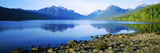 Reflection of Rocks in a Lake, Mcdonald Lake, Glacier National Park, Montana, USA Photographic Print by  Panoramic Images