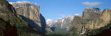El Capitan and Half Dome Rock Formations, Yosemite National Park, California Photographic Print