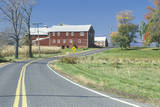 A Red Barn and Scenic Route 9G in the Hudson River Valley, NY Photographic Print