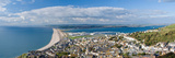 High Angle View of a City at Waterfront, Chesil Beach, Isle of Portland, Dorset, England Reproduction photographique par  Panoramic Images