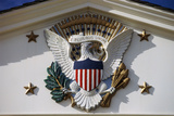 U.S. National Emblem and Presidential Seal at Herbert Hoover Site, West Branch, Iowa Photographic Print