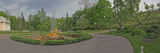 Fountain Outside a Palace, Peterhof Grand Palace, St. Petersburg, Russia Photographic Print by  Panoramic Images