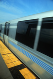 Bart Metro Rail Car from Platform in San Francisco, California Photographic Print