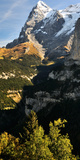 Lauterbrunnen Valley with Mt Eiger in the Background, Murren, Bernese Oberland, Bern, Switzerland Photographic Print by  Panoramic Images