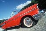 Profile of a Red 1957 Chevy Convertible in Delaware Photographic Print