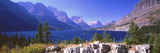 Lake with Mountain Range in the Background, St. Mary Lake, Glacier National Park, Montana, USA Photographic Print by  Panoramic Images