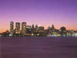 Sunset View of Skyline of Philadelphia, Pennsylvania from the Delaware River Photographic Print