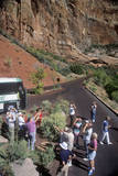 German Tourists at Zion National Park, Utah Photographic Print