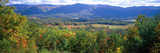 Trees with Mountain Range in the Background, Cades Cove, Great Smoky Mountains National Park Photographic Print by  Panoramic Images