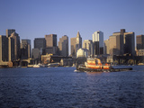 Boston Massachusetts Skyline and Waterfront View in the Morning Photographic Print