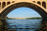 Archway of the Key Bridge in Washington DC, Rosslyn, Arlington, Virginia on the Potomac River Photographic Print