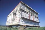 A House Covered with Graffiti in the Process of Being Moved in Ventura, California Photographic Print