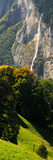 Waterfall, Lauterbrunnen Valley, Wengen, Lauterbrunnen, Interlaken-Oberhasli, Bernese Oberland Photographic Print by  Panoramic Images