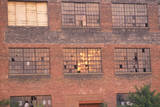 Broken Windows of an Abandoned Brick Factory Building, South Bend, Indiana Photographic Print