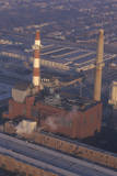 An Aerial View of an Industrial Smoke Stack in Chicago, Illinois Photographic Print