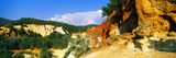 Trees on a Hill, Colorado Provencal, Provence-Alpes-Cote D'Azur, France Photographic Print by  Panoramic Images
