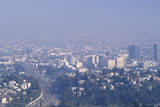 Smog Obscuring the Los Angeles Skyline Photographic Print