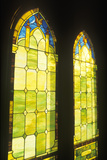 Stained Glass Windows on a Church, Kauai, Hawaii Photographic Print
