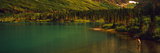 Man Fly Fishing on the Bullhead Lake, Swiftcurrent Valley, Us Glacier National Park, Montana, USA Photographic Print by  Panoramic Images