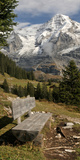 Bench with Mt Monch in the Background, Kleine Scheidegg, Bernese Oberland, Bern, Switzerland Photographic Print by  Panoramic Images