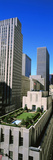 Skyscrapers in a City, Roof Garden, Rockefeller Center, Manhattan, New York City Photographic Print by  Panoramic Images