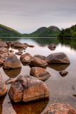 Rocks in Pond, Jordan Pond, Bubble Pond, Acadia National Park, Maine, USA Photographic Print by  Panoramic Images