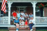 American Family on Front Porch Photographic Print