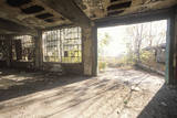 Interior of Decaying Abandoned Factory, East St. Louis, Missouri Photographic Print