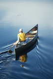 Man Canoeing on Connecticut River Photographic Print