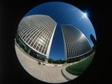 Fisheye View of Office Buildings in Century City, California Photographic Print