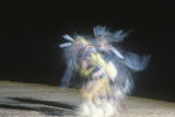 Native American Dancer in Motion at Tribal Ceremony, Gallup, New Mexico Photographic Print