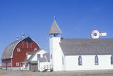 Farm Buildings, KS Photographic Print