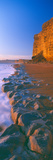 Cliff on the Beach, Burton Bradstock, Dorset, England Photographic Print by  Panoramic Images