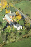 An Aerial Photography of a Farm in Autumn in Stowe, VT Photographic Print