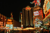 Downtown Las Vegas, Nevada at Night Photographic Print