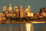 Skyline View of Philadelphia, Pennsylvania, View from Camden, New Jersey Photographic Print