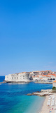 Banje Beach with Old Town of Dubrovnik, Dalmatia, Croatia Photographic Print by  Panoramic Images