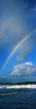 Rainbow over Ocean, Oahu, Hawaii, USA Photographic Print by  Panoramic Images