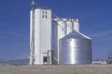 Grain Silo Co-Op in Ks with a Blue Sky in the Background Photographic Print