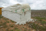 Cotton Bales Stacked in Field Photographic Print