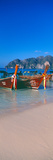 Fishing Boats in the Sea, Phi Phi Islands, Phuket Province, Thailand Photographic Print by  Panoramic Images