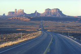Highway Leading Towards Monument Valley, Utah Photographic Print