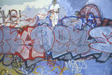 Graffiti of Street Life USA Photographic Print