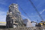 A Demolition Crew Tearing Down Remnants from a Building in Minneapolis, Minnesota Photographic Print