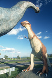Life Sized Dinosaurs for Roadside Attraction in West Virginia Photographic Print