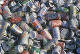 Aluminum CAns, Foil, and Plates Ready for Recycling at the Santa Monica Community Center, CA Photographic Print