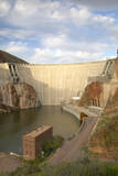 Theodore Roosevelt Dam on Apache Lake, West of Phoenix Az in the Sierra Ancha Mountains Photographic Print